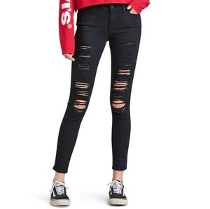 Levi's 711 Ripped Skinny Jeans NWT